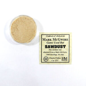 Highland Mint Mark McGwire Game Used Bat Sawdust Limited Edition 1 of 500