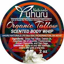"""GRADE A"" Grass Fed Tallow (SCENTED) Whipped Body Moisturizer"
