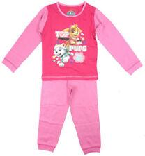 Pyjamas rose pour fille de 2 à 16 ans en 100% coton, taille 2 - 3 ans