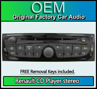 Renault Trafic CD MP3 player, Renault Bosch car stereo, radio code & keys
