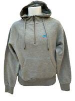 New NIKE Sportswear NSW Vintage Half Zipped Cotton Hoodie Grey S