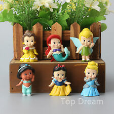 Princess BeΙΙe CindereΙΙa Snow White Jasmine Ariel PVC Figures Doll Cake Toppers