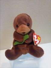Ty Beanie Baby - Seaweed the Otter - Style #4080 - D.O.B. 3-19-96, Retired