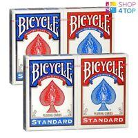 4 DECKS BICYCLE RIDER BACK STANDARD INDEX SPIELKARTEN 2 ROT 2 BLAU NEU