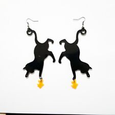 SUPER CUTE CAT STATEMENT ACRYLIC EARRINGS MEOW VALENTINES GIFT