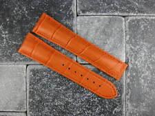 OMEGA 22mm Orange Leather Deployment Strap Orange Stitch Watch Band Seamaster