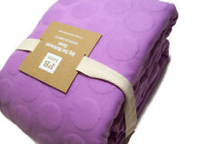 Pottery Barn Teen Cotton Purple Big Dot Matelasse Full Queen Duvet Cover New