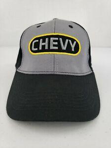 Chevy Chevrolet GM Logo Black Gray Yellow Baseball Cap Hat Diesel Trucks Cars