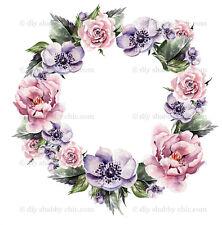 Furniture Slide Decal Vintage Image Transfer Wedding Flower Shabby Chic Antique