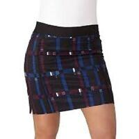 Adidas Ultimate Adistar 365 Golf Skort Skirt w Shorts Black Plaid BC5279 $75 New