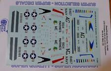 Microscale Decal 1:72 Scale #72-846 / USN A4D-2n (A-4C) A-4C Skyhawks: VA-72 &