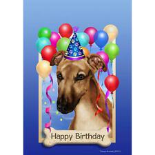 Greyhound Fawn Happy Birthday Flag