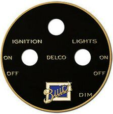 Buick DELCO Ignition & Lighting Switch Plate Etched Brass 1920s - 1930s