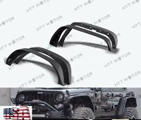 Stubby Rock Crawler Front+Rear Metal Fender Flares fit 07-17 Jeep JK Wrangler
