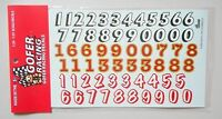 RACE CAR NUMBERS 1:24 1:25 GOFER RACING DECALS CAR MODEL ACCESSORY 11005