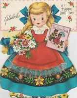 Vintage Birthday Card Goldilocks Story Card By Fairfield Die Cut for Little Girl