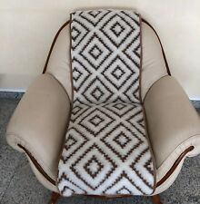 """Seat Cover """" Athen """" 19 11/16x70 7/8in Cushion Throw Chair Runner, Wool"""