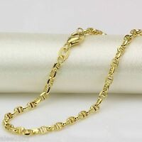 Pure Solid 18K Yellow Gold Necklace Unisex Anchor Link Chain Xlee 19.6inch