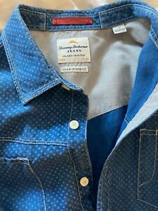 Tommy Bahama mens shirt ~ 100% linen size L
