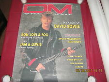 """David Bowie Poster Cover of """"Only Music Magazine"""" Issue #6 June 1987 Mint !"""