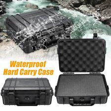 ABS Black Storage Box Protective Equipment Camera Carry Case Sponge 180mm