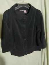 Dkny Jeans Grey Cotton lining Packets Top 3/4 Sleeve Jacket Blazer Sz Xs Soft Wo