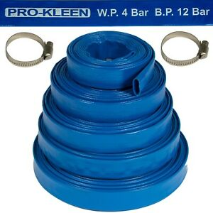 Layflat Hose PVC Flood Drainage Discharge Submersible Dirty Water Pump Lay Flat