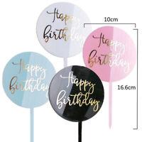 Happy Birthday Cake Topper Acrylic Decor Party Supplies Wedding Decor Kid Gifts