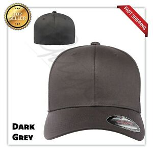 Original Flexfit Fitted Baseball Hat Wooly Combed Twill Cap Blank Flex Fit 6277