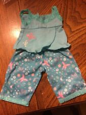 American Girl Doll Jess Pajamas Tropical Turquoise EUC Retired