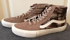 VANS Sk8-Hi Brown Tan White Camouflage  Mens Size 5 Hi Tops Laced