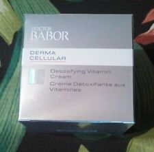 Doctor Babor Derma Cellular Detoxifying Vitamin Cream 50 ml NEW IN BOX