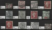 Group Of Identified Numeral Cancels On QV Items Incl.1d.Stars & SG147. Ref:07195