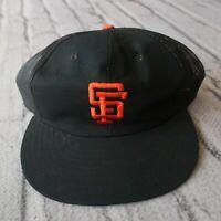 Vintage 90s San Francisco Giants Mesh Trucker Snapback Hat Cap