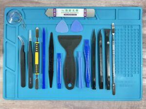 19PC Premium Opening Pry Tool Set Repair Mat Kit For Ipad LCD Android Phone