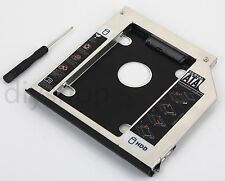 With Ejector + Bezel 2nd HDD SSD SATA Caddy for Dell Latitude E6440 E6540 M2800