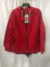 Tommy Hilfiger Womens Windbreaker Jacket Red Black Hooded...