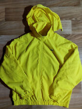 Lacoste Sport Vintage Windbreaker Hoodie Track Top Jacket Hype Hooded Yellow