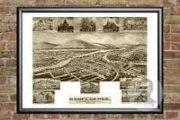Old Map of Confluence, PA from 1905 - Vintage Pennsylvania Art, Historic Decor