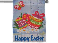 """HAPPY EASTER EGGS EGG GARDEN BANNER/FLAG 28""""X40"""" SLEEVED POLY"""