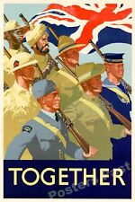 1940s Together WWII Historic War Poster - 24x36