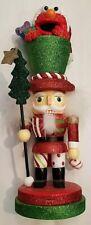 Kurt Adler Hollywood Elmo Glittery Red Green Nutcracker Holiday Christmas New