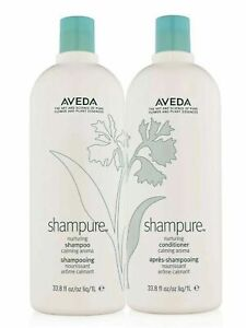 Aveda Shampure Shampoo and Conditioner Duo 33.8 oz / 1 liter, New!