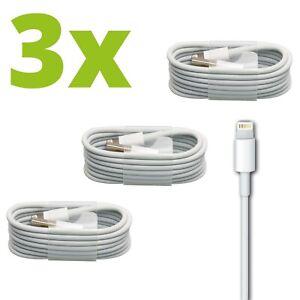 3x iPhone Ladekabel Lightning USB Kabel 1m 5 6 7 8 X XS XR 11 12 Pro für Apple