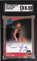 Trae Young 2018-19 Donruss Optic Rated Rookie HOLO Autograph