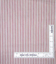 Christmas Fabric - Holiday Candy Cane Stripe Red Creamy White Andover - Yard