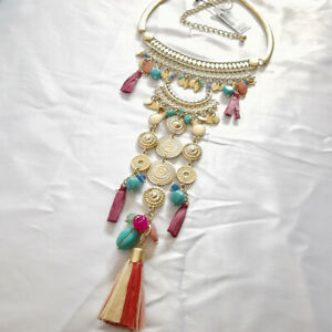 CHICO'S GOLD TONE STATMENT NECKLACE