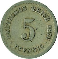 GERMANY - EMPIRE, 5 Pfennig, 1876   #WT297