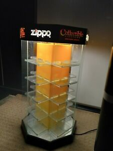 Zippo Lighted Rotating Display Case ( VINTAGE )