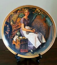 "Norman Rockwell's ""Dreaming in the Attic"" Plate - The Edwin M. Knowles China Co."